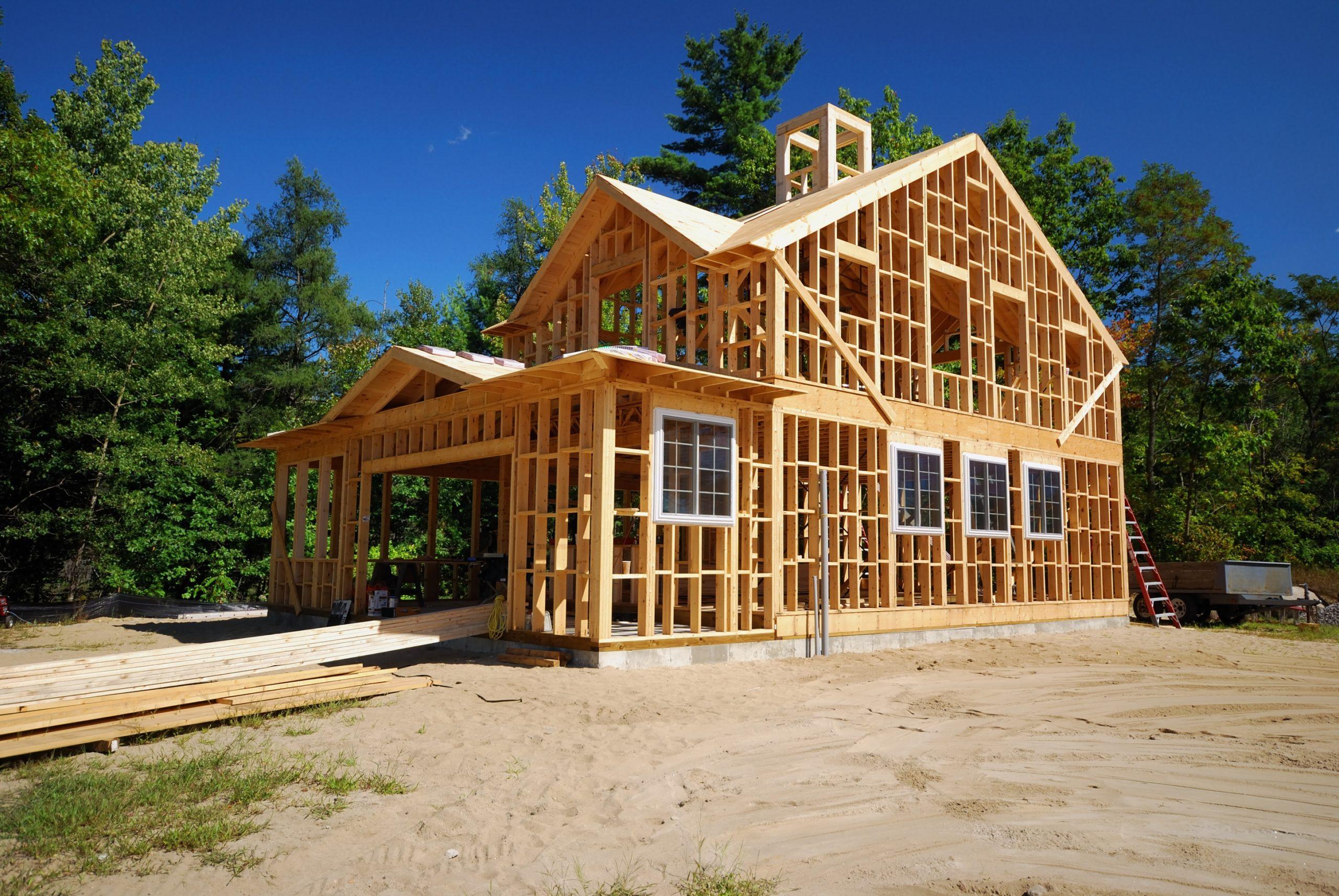 ossature bois d'une maison individuelle