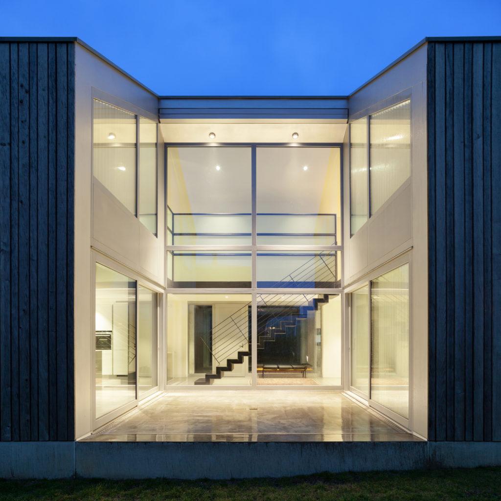 exterieur de maison individuelle moderne - villa CMI